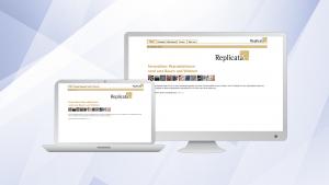 Replicata, Website 1.0 | Um möglichst schnell und mit vergleichsweise geringem technischen Aufwand Ende der 90er-Jahre online gehen zu können, wurde auf eine Datenbank-Lösung verzichtet und in Fleißarbeit statische Seiten erstellt.