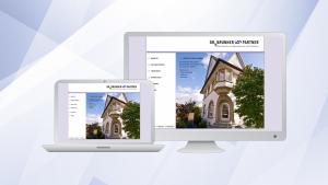 RAe Dr. Brunner & P., Website 2.0 | Die Website der Kanzlei in den Jahren 2010 bis 2017, das Screendesign stammt von Caro Holzer, die Umsetzung als »Custom Theme« für Wordpress sowie die laufende Betreuung in den Folgejahren erfolgte durch uns.